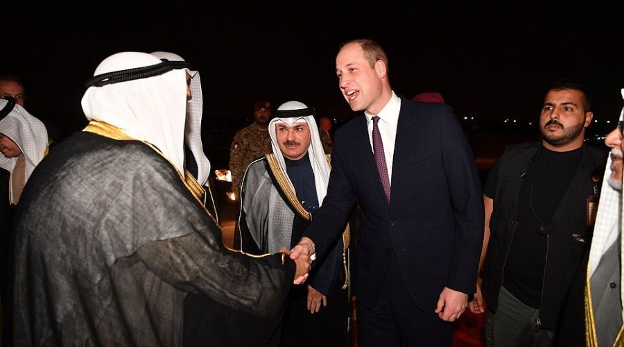 The Duke of Cambridge with Kuwaiti officials
