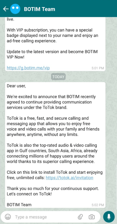 Video Calling Free in UAE TOTOK App