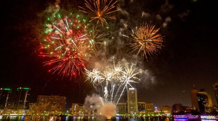 al seef fireworks new year 2020