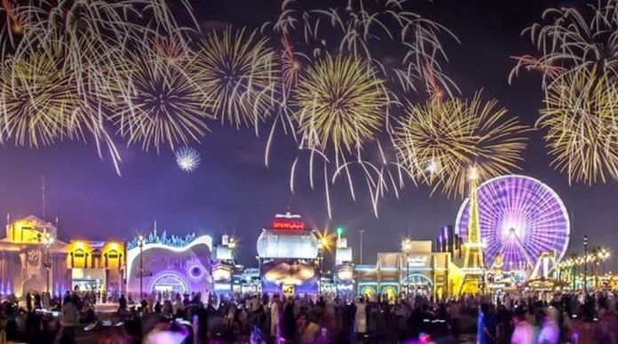 global village new year 2020 fireworks