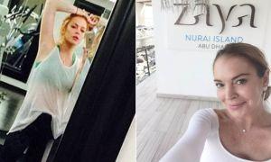 Lindsay Lohan gym trains with Tony Keyrouz in Dubai