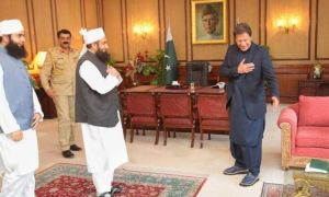 Pakistan PM Imran khan avoids handshake with Tariq Jameel