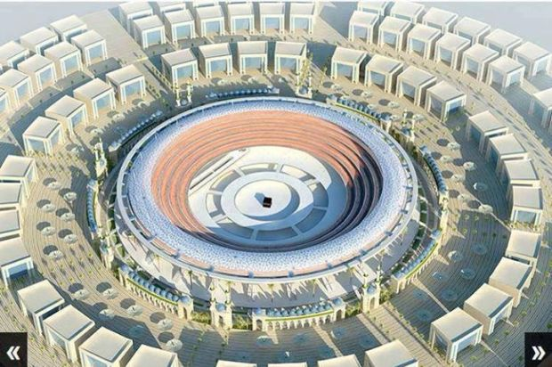 Proposed construction plan for Masjid al Haraam, Makkah, Saudi Arabia.