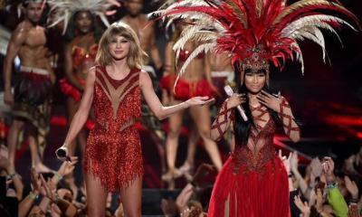 Taylor with nicki VMA 2015