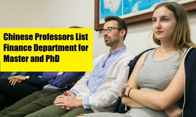 Chinese Professors List Finance Department for Master and PhD