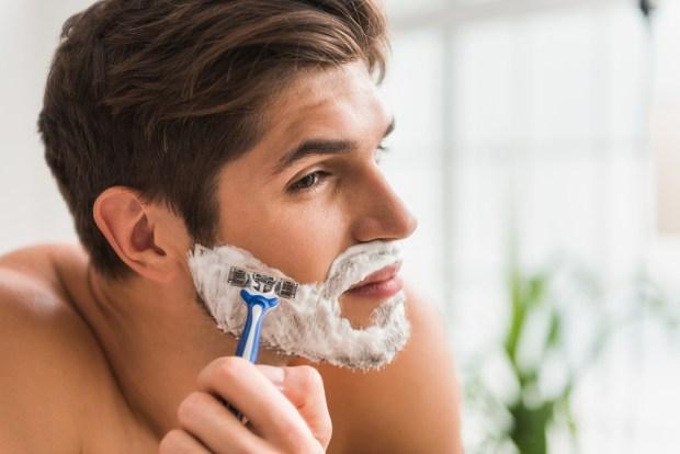 Shaving Facial Hair