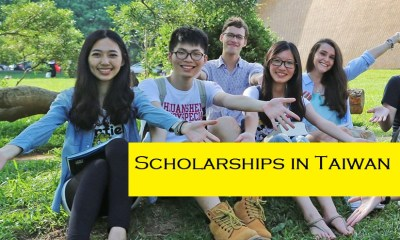 Scholarships in Taiwan