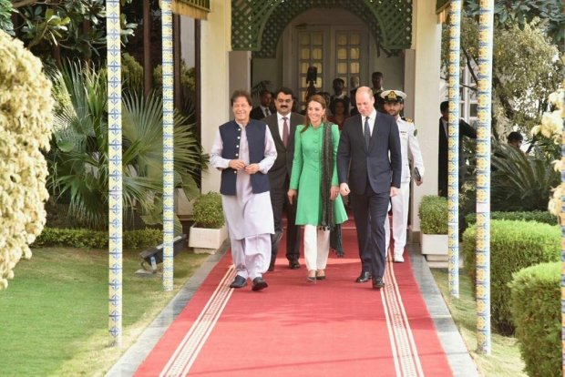 Royal Couple with Imran Khan in Pakistan