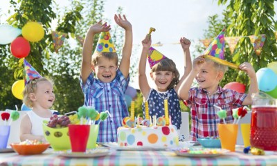 Birthday Party at a Theme Park