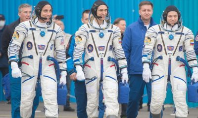 Three astronauts leave for the International Space Station