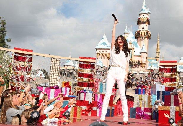 Selena Gomez Celebrating Christmas Eve-3