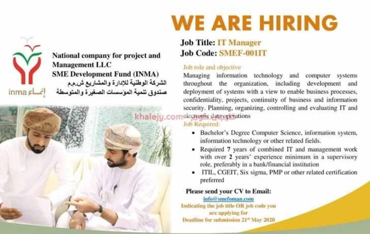 وظائف عمان في صندوق تنمية المؤسسات الصغيرة والمتوسطة .