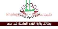 وظائف وزارة القوى العاملة والهجرة عدد 7599 فرصة عمل
