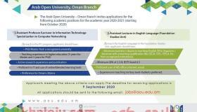 وظائف الجامعة العربية المفتوحة في عمان 2021 وظائف ادارية