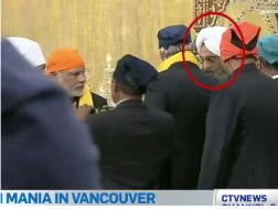 Granthi gives gift to both Harper and Modi and Walks out of the Gurdwara with them leaving Guru Granth Sahib Ji without an sevadar