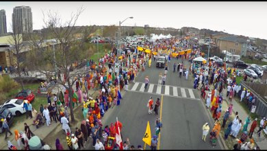 Amazing Video Of Malton to Rexdale Nagar Kirtan In Canada 2015 Aerial 4K By Eos Photography Jay Randhawa