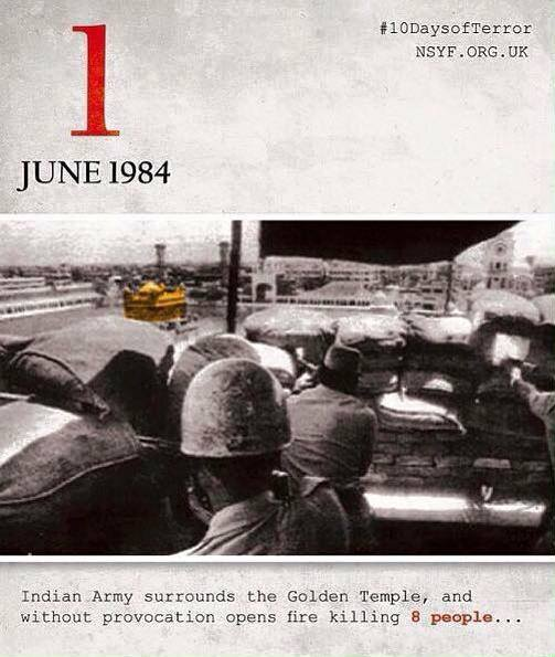 1st June1984 of Operation Bluestar