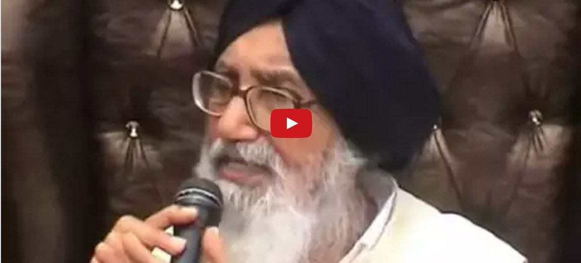 Badal On Prof Davinderpal Singh Bhullar Transfer of Sikh Prisoners From Other States to Punjab