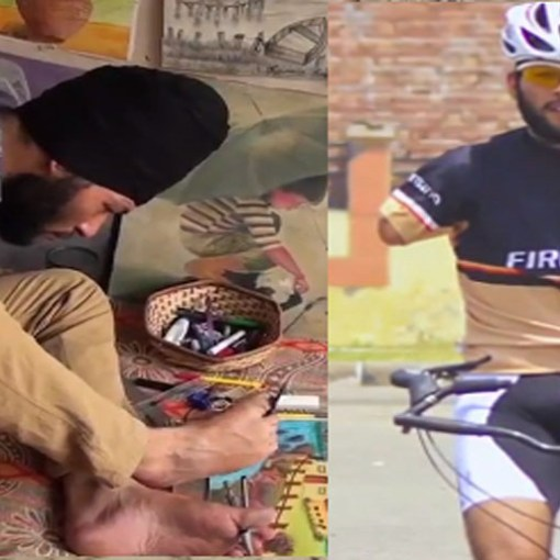 NO HANDS DOESN'T STOP THIS SINGH FROM BEING AN INTERNATIONAL CYCLIST 1