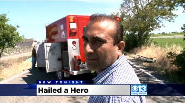 PUNJABI TRUCK DRIVER COMES TO THE RESCUE AND SAVES A LIFE