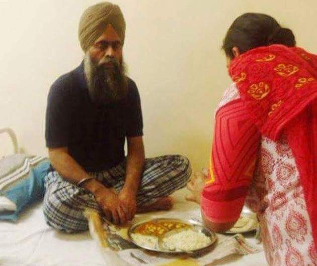The Amritsar Central Jail authorities have allowed homemade food for Prof. Davenderpal Singh Bhullar