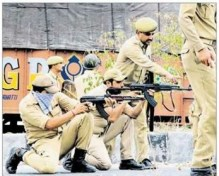 police resorted to 9mm bullets