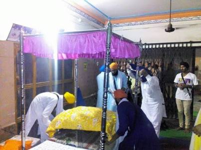 Prakash of Dhan Dhan Sri Guru Granth Sahib Ji Maharaj at the house of Bapu Surat Singh Khalsa in Hassanpur today. 3