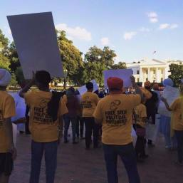 Sikh mass demonstration is taking place right now in front of the @WhiteHouse