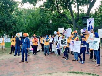 Sikh mass demonstration is taking place right now in front of the WhiteHouse 3