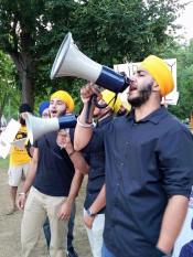 Sikh mass demonstration is taking place right now in front of the WhiteHouse 5