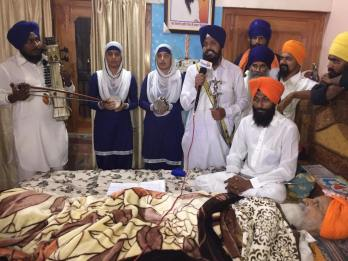 Sikh sangat from far and near are coming to visit Bapu Surat Singh Khalsa. 3