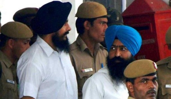 Bhai Jagtar Singh Hawara and Paramjeet Singh Bheora in police custody