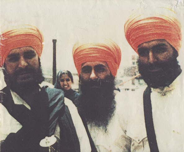 Shaheed Vice Jathedar Sulakhan Singh at Right