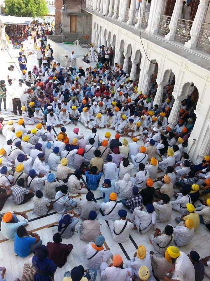 Pics from todays protest at Akaal Takhat Sahib 3