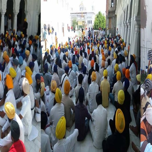 Pics from todays protest at Akaal Takhat Sahib cover