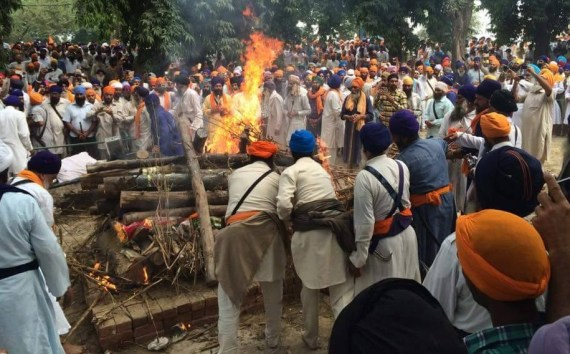 3rd Shaheed of the Morcha thus far.... Bapu Pooran Singh Nihang..... Parnaam Shaheeda Nu!
