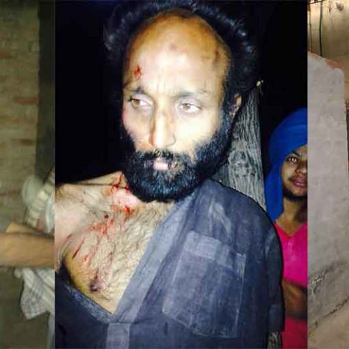 This Man Was Arrested By Singhs Before He Tried To Do Beadbi In Village Chuhar Chak In Moga
