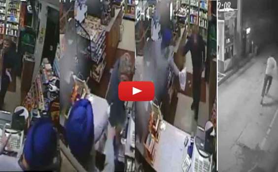 New York :- Amrik Singh Chases Armed Gunman | He Took His Shoes And Chased The Armed Robber Out Of His Store.