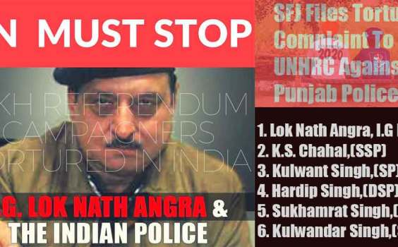 Sikhs For Justice Files Torture Complaint to United Nations Human Rights Commission Against Punjab Police
