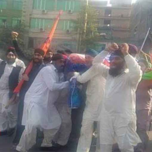 Afghanistan: Afghan Sikh Community Protest in Jalalabad Against the Killing of a Young Sikh Man