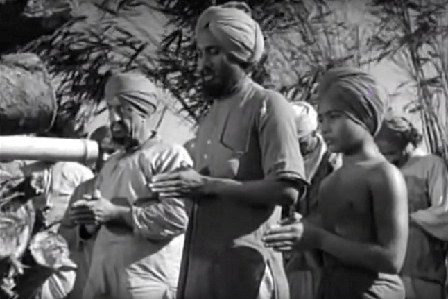 Udham Singh (centre) in a scene from 'Elephant Boy'