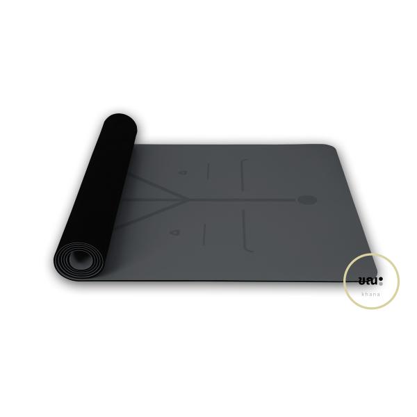 เสื่อโยคะ ขณะ สีเทา Space Grey Yoga Mat KHANA (183x68cm 5mm)
