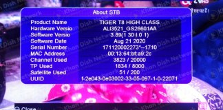 Tiger t8 high class new software v3.89