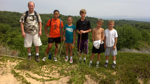 Backpacking trip with my family on South Manitou Island - July 2012