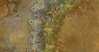 Map of Darkshore World Quests