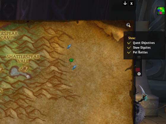 Darkshore Map Tracker Options