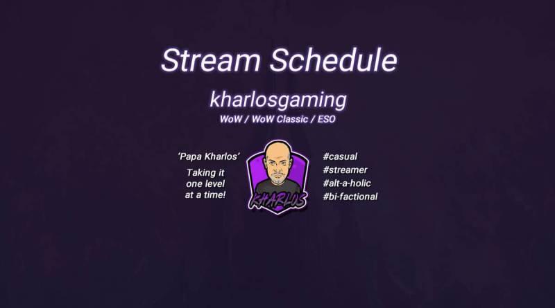 Kharlos Gaming - Stream Schedule