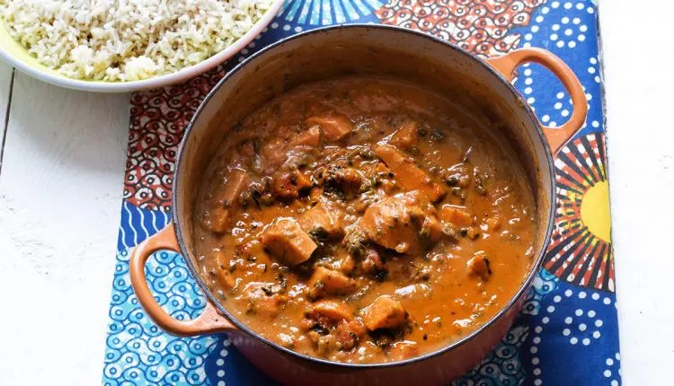 Sudanese Sweet Potato, Spinach and Peanut Stew
