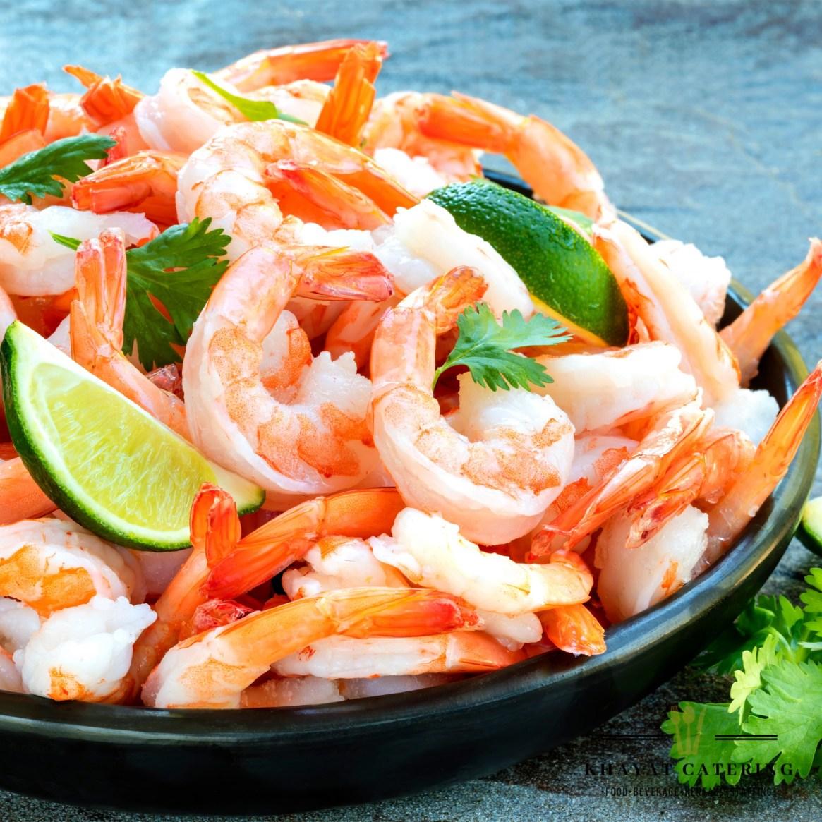 Khayat Catering Chilled jumbo shrimp platter
