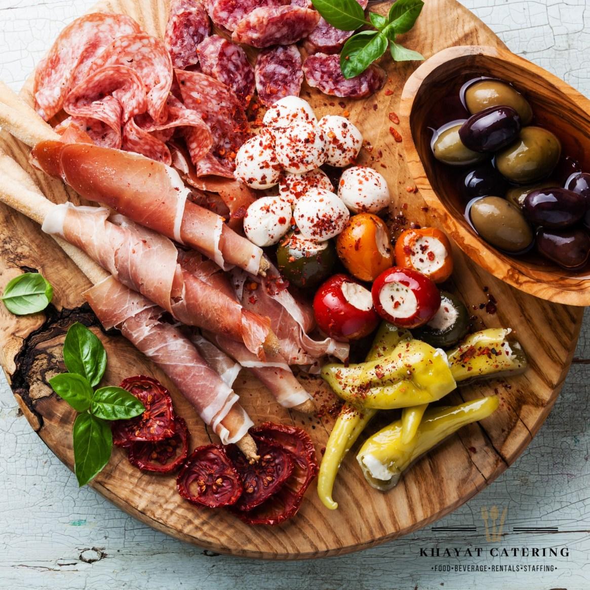 Khayat Catering antipasto platter